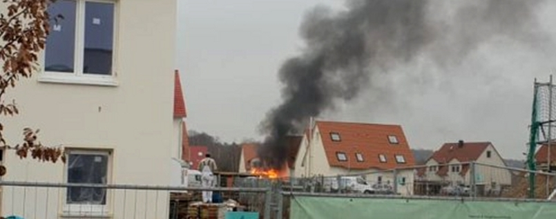 Carport-Brand in Golm am Donnerstag, 13.12.2018.