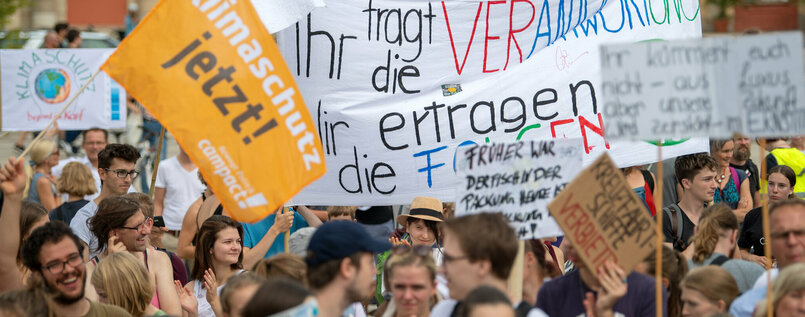 So sah die Fridays for Future-Demonstration in Potsdam am 31. August aus - kurz vor der Landtagswahl.