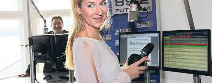 Sendestart. Radiochefin Juliane Adam ist auch aktive Triathletin.