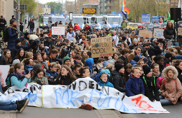 """Fridays for Future""-Demonstration am 12. April 2019 on Potsdam."